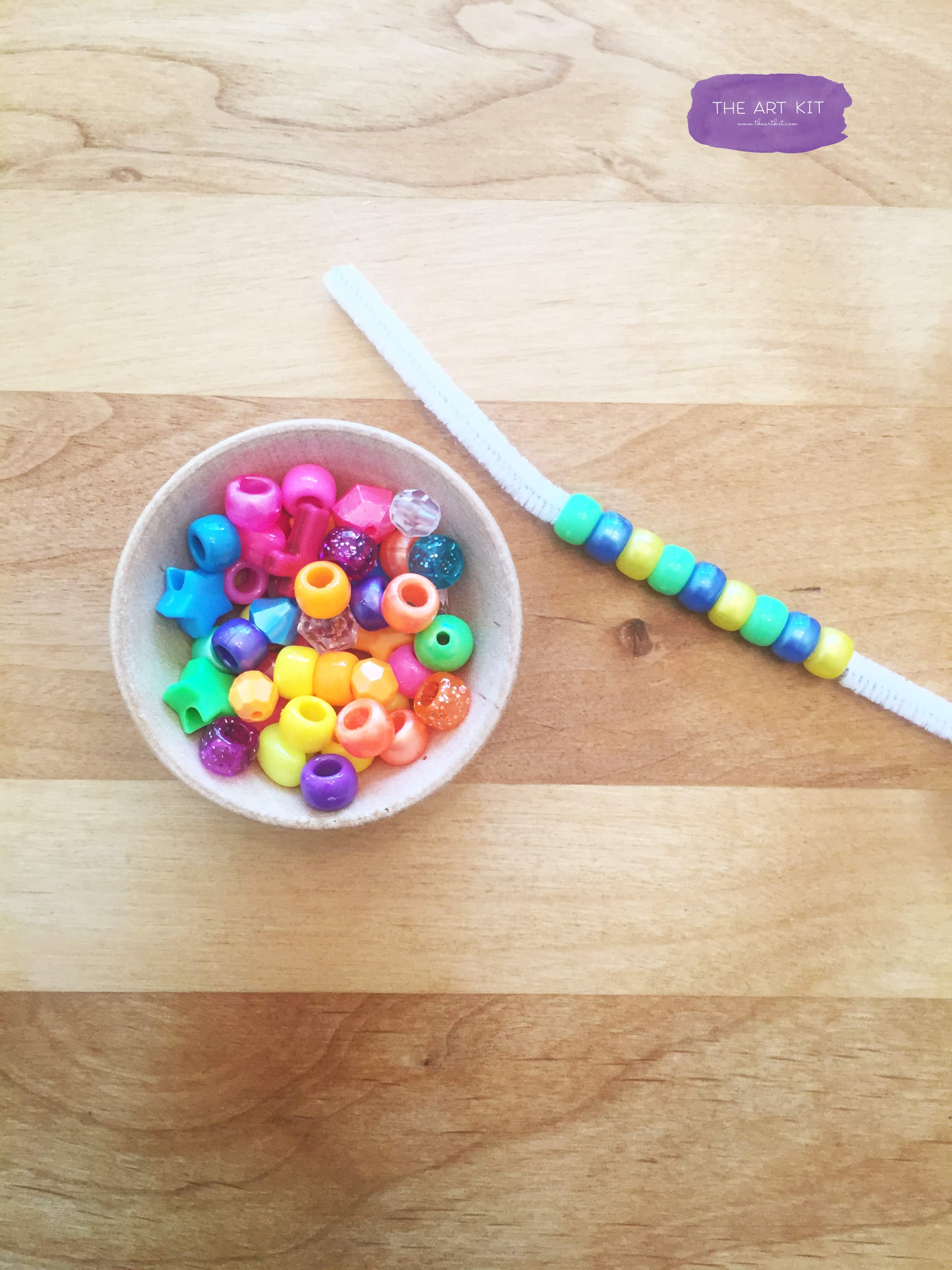 Pattern play with beads by The Art Kit Blog