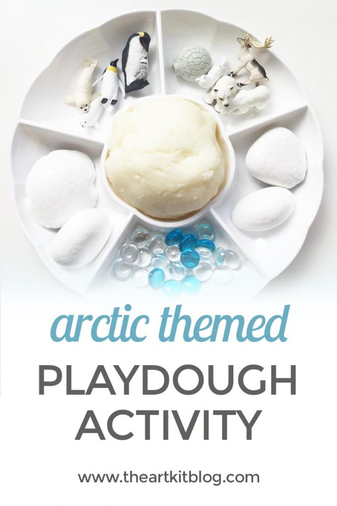 Arctic Playdough Activity INVITATION TO PLAY or Kids by The Art Kit Blog