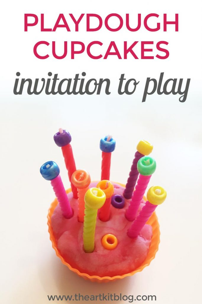 Invitation to Play with Homemade Playdough Cupcakes from The Art Kit Blog FINAL