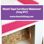 Furniture Makeover With Washi Tape {QUICK + EASY}