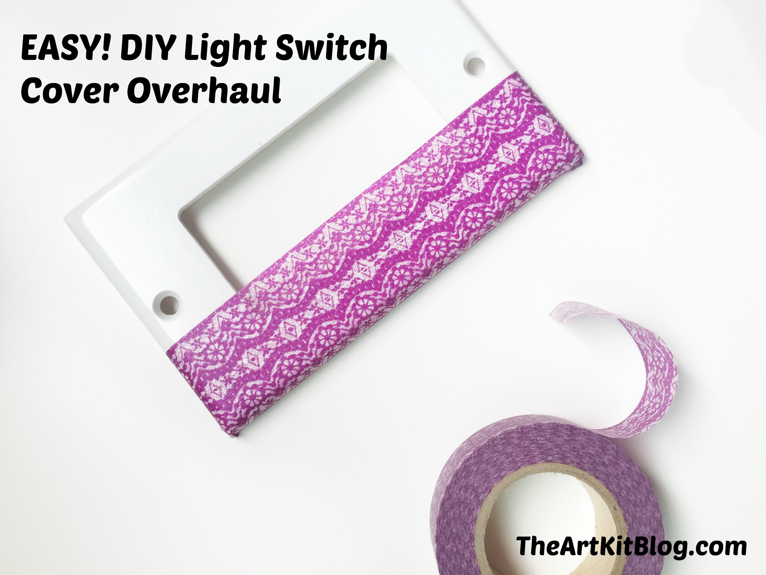 EASY! DIY Light Switch Cover Overhaul at The Art Kit Blog