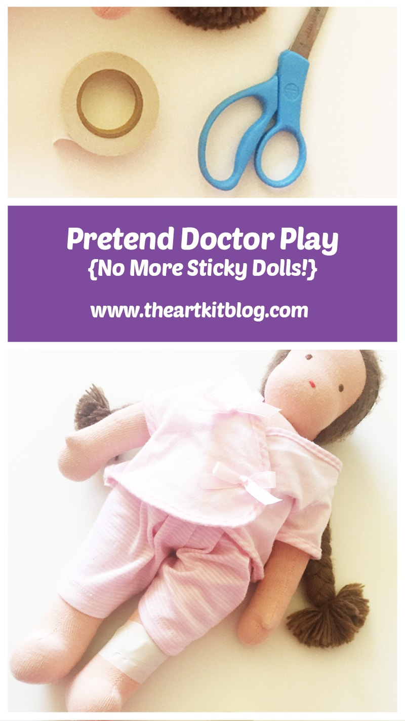 Pin for later, visit the blog today! Playing doctor with bandages that don't leave sticky residue!