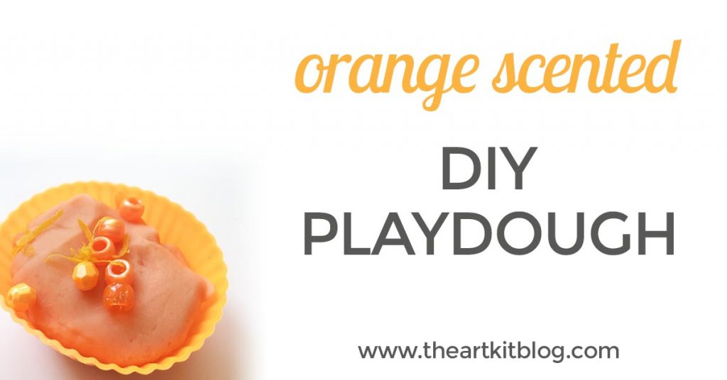 How to make orange scented playdough by @theartkit www.theartkitblog.com