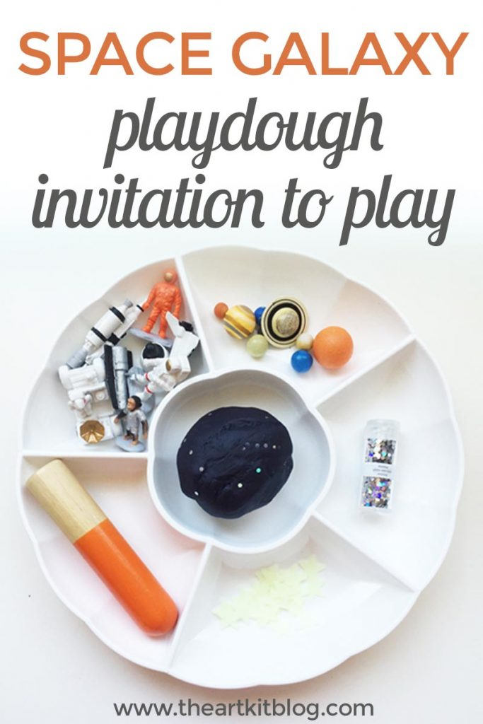 Space galaxy playdough invitation to play that's out of this world! by @theartkit www.theartkitblog.com
