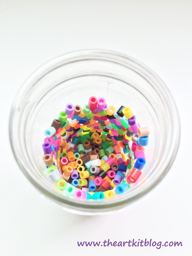 Perler Bead Candle Holders by The Art Kit Blog. Stop by the Blog Today to See This and Many More Arts and Crafts and Activities for Kids or Pin For Later