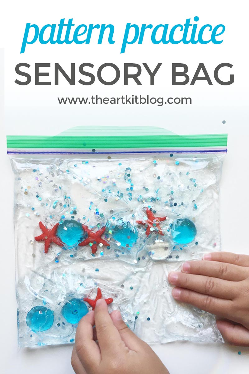 How to make sensory bags for pattern practice. Visit @theartkit www.theartkitblog.com