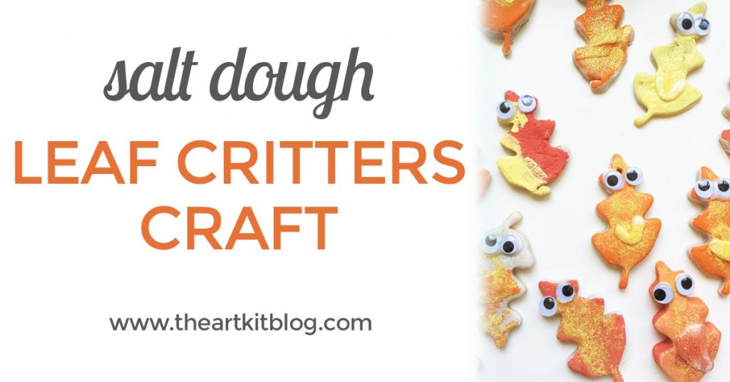 Salt dough leaf critters- an easy and fun fall craft for kids from @theartkit www.theartkitblog.com