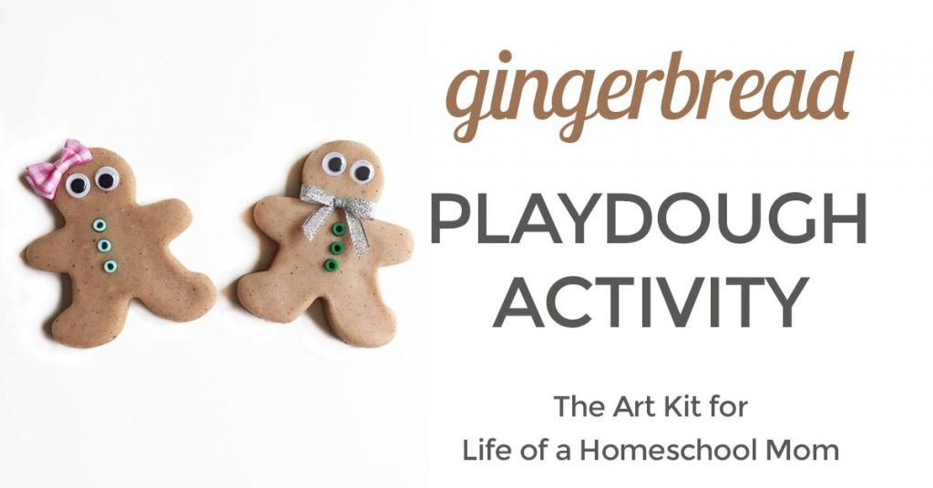 G is for gingerbread playdough invitation to play @theartkit www.theartkitblog.com for Life of a Homeschool Mom