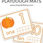 Pumpkin Playdough Mats for Number Practice {Free Printables!}