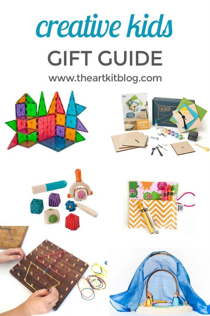 Six gifts for creative kids. Find the gift guide @theartkit www.theartkitblog.com