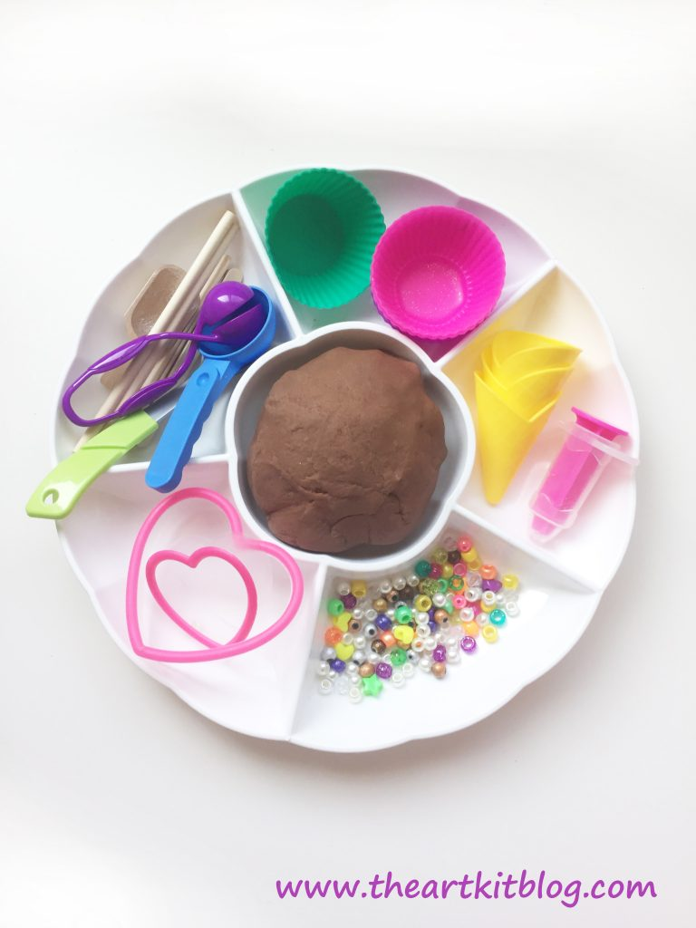 Chocolate Playdough with Real Cocoa Powder by The Art Kit - Read on the Blog Today or Pin for Later