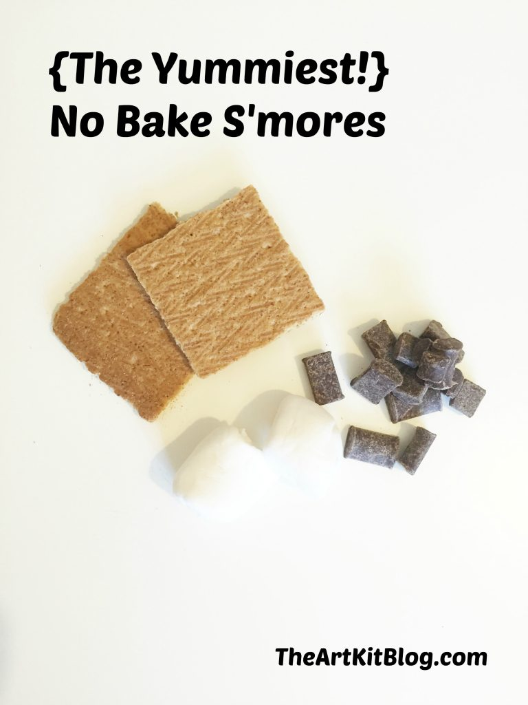 {The Yummiest!} Dairy Free No Bake S'mores from The Art Kit Blog