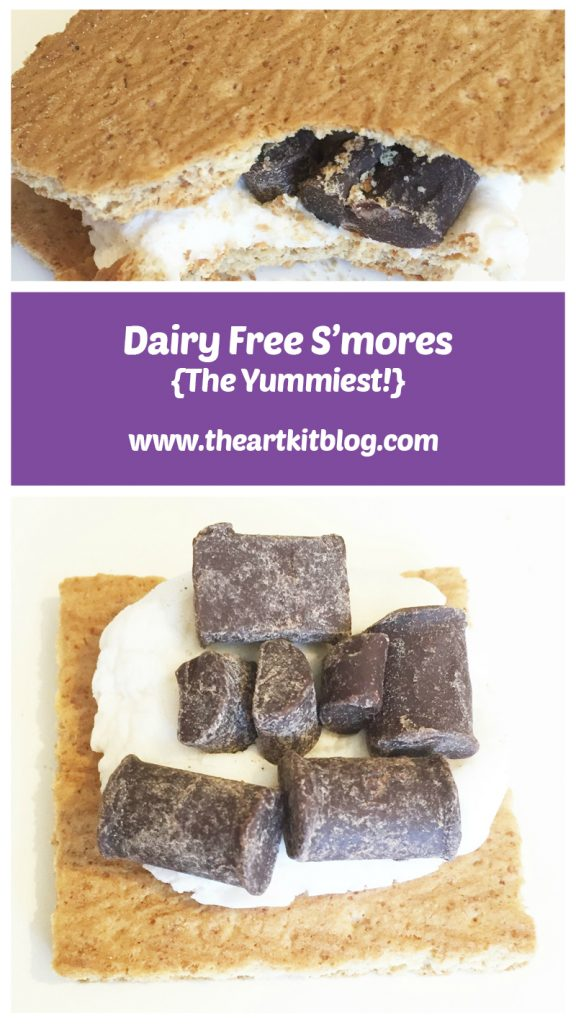 How to Make the Yummiest Dairy Free No Bake S'mores From The Art Kit Blog, Visit the Blog or Pin for Later