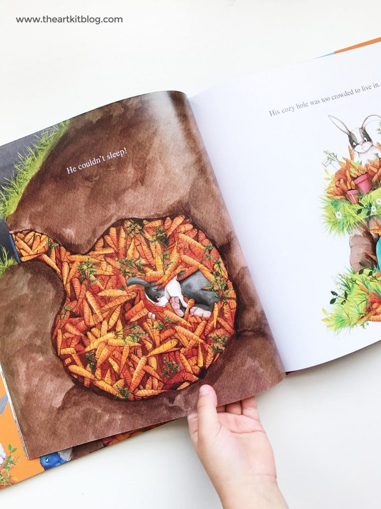 Painting Cardboard Carrots Craft for the Book - Too Many Carrots - from @theartkit