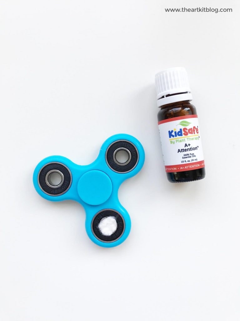 fidget spinner and essential oils from plant therapy an activity from the art kit