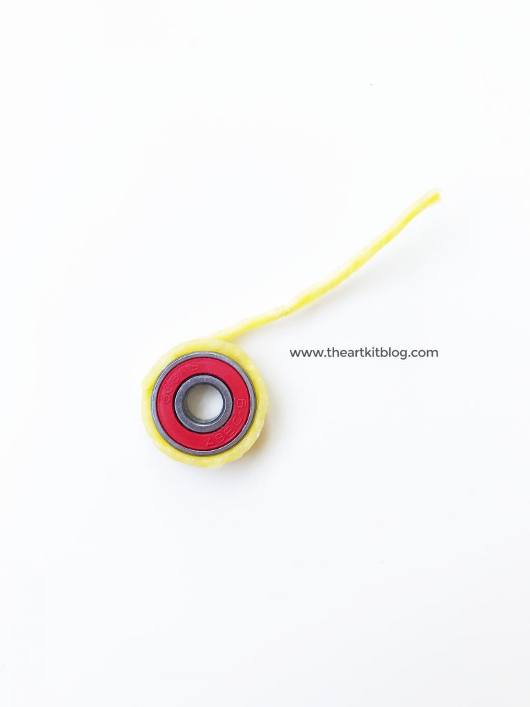 How to make a fidget spinner from wikki stix and ball bearings at @theartkit