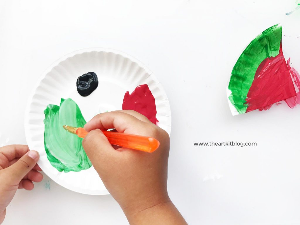 paperplate craft for kids watermelon craft the art kit