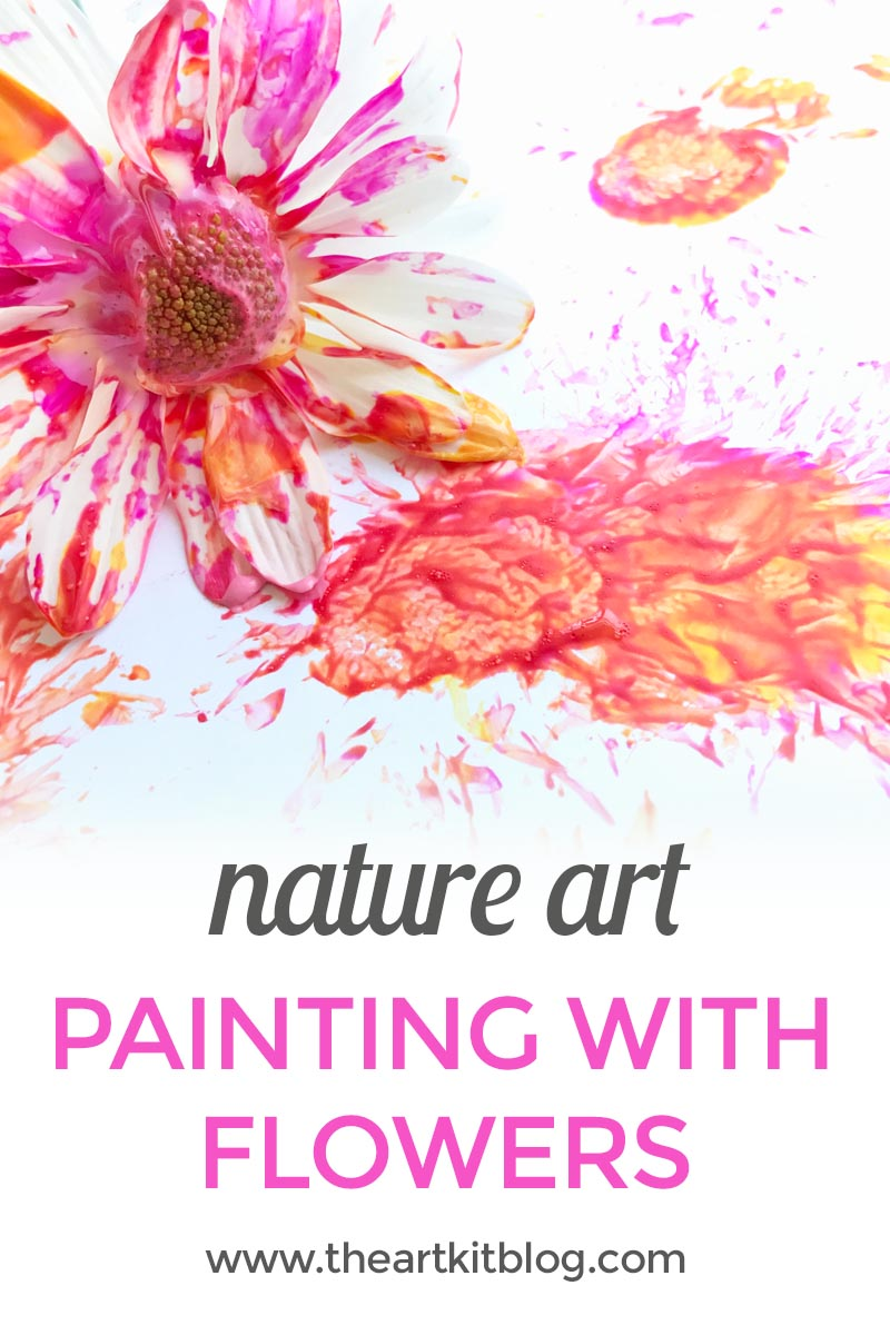 painting-with-flowers-nature-art-the-art-kit-pinterest