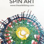Spin Art {With Paint and Glitter}