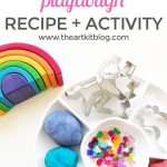 Rainbows and Unicorns Playdough Activity {Playdough Recipe Included}