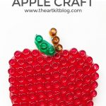 Mixed Media Apple Craft for Kids