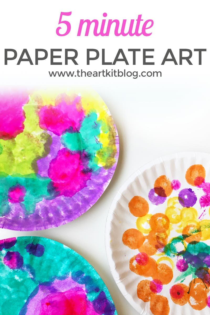 5 Minute Paper Plate Art for Kids. Looking for an easy, no-mess art project for the kids? Look no further! We combined Do-a-Dot markers and mini paper plates to make a super easy and fun art project for the kids. The kids had a blast and we loved that both the set-up and clean up were a breeze. Click through for all the details of this fun five-minute paper plate art for kids.