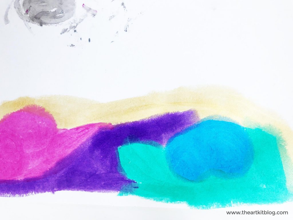 Abstract Art with Kwik Stix {Mess Free Paint Sticks}