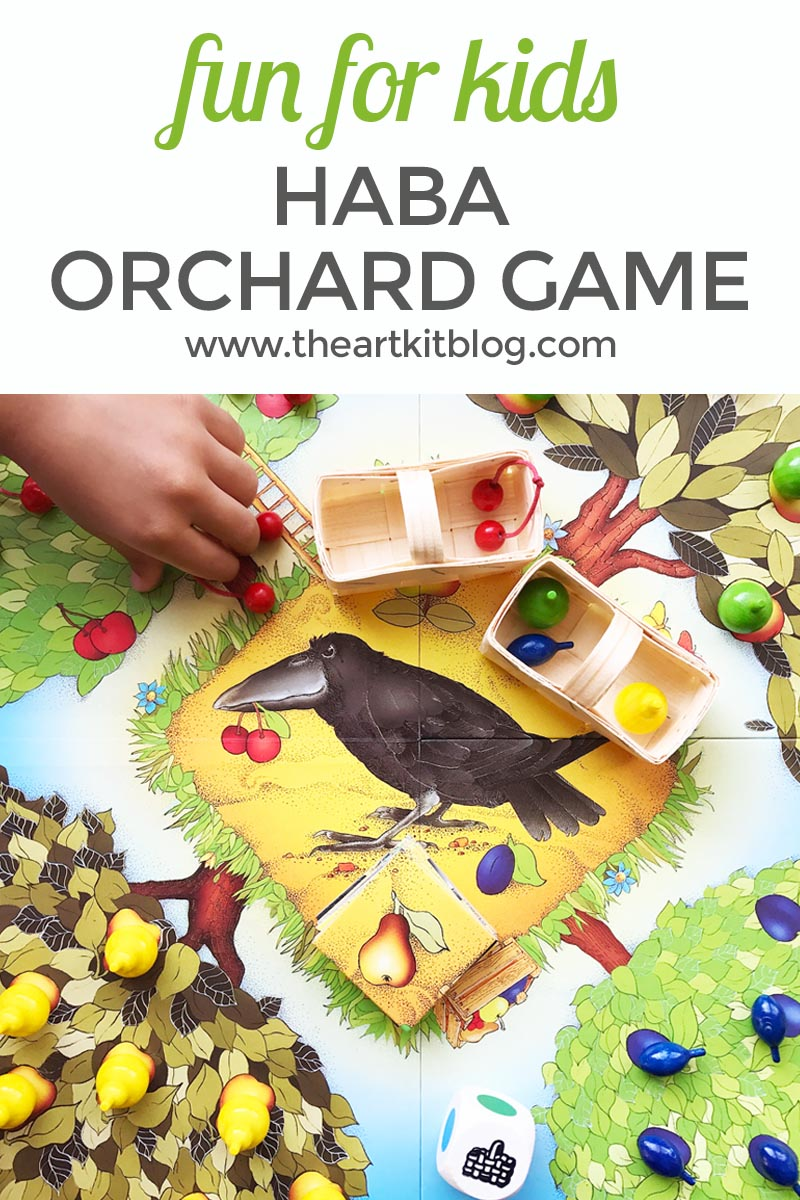 One of Miss 6's first games (from several years ago) was HABA's first orchard game and it continues to be one of our favorite games to this day. We recently discovered that HABA has two other orchard games geared towards older children and since HABA has yet to disappoint us, we knew they'd be a hit and were excited to try them out. Today we'll be sharing our thoughts on HABA's orchard game – please read on for all the photos and fun.