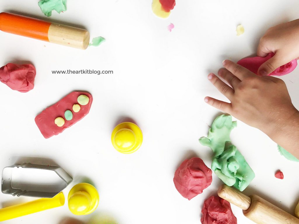 Back to school playdough invitation to play by The Art Kit Blog