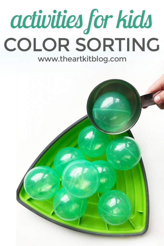 Color sorting with gonge riverstones and ball pit balls by @theartkit