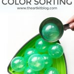 Color Sorting Activity for Kids with Gonge Riverstones