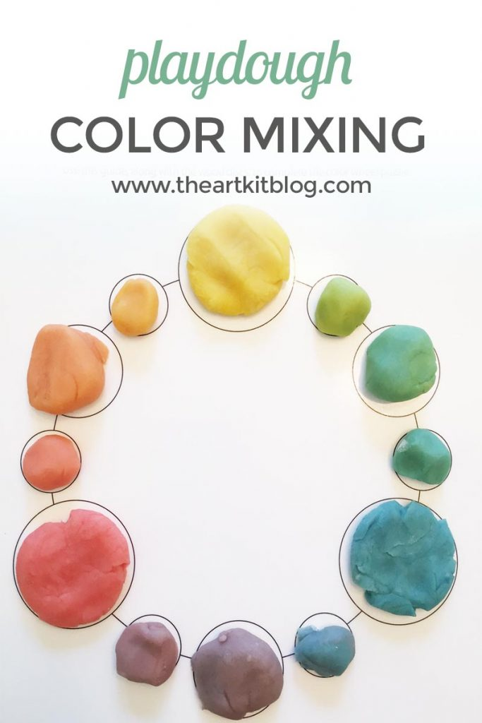 playdough color mixing the art kit