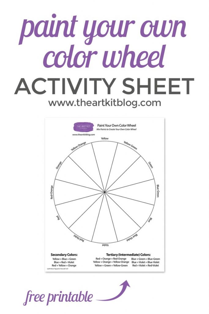 photo regarding Color Wheel Printable identified as Paint Your Individual Shade Wheel Cost-free Printable - The Artwork Package