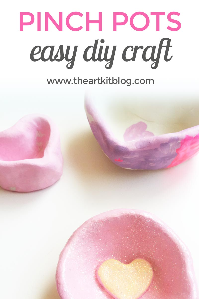 Click here to learn more about our pinch pots craft activity on the art kit blog