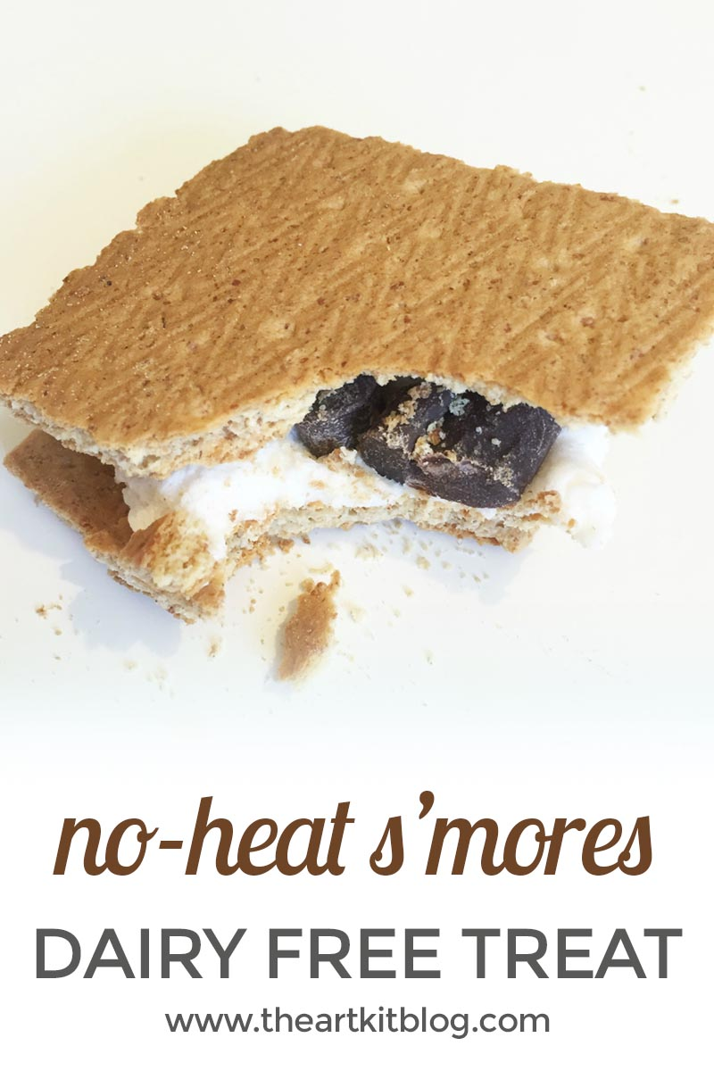 The Yummiest Dairy Free No Bake S'mores From The Art Kit Blog, Visit the Blog or Pin for Later final