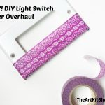 EASY! DIY Washi Tape Decorated Light Switch Plates