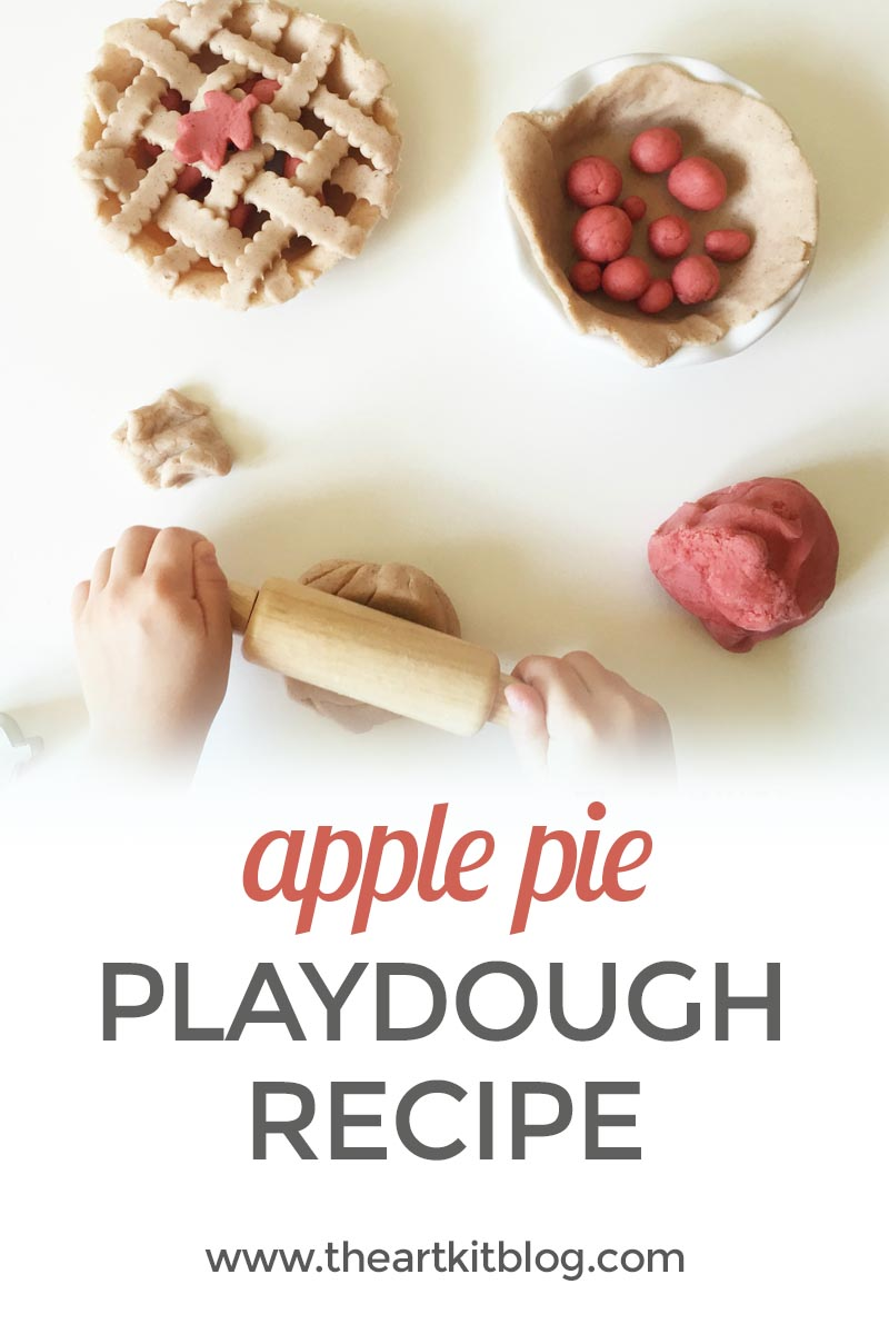 apple pie playdough recipe the art kit blog