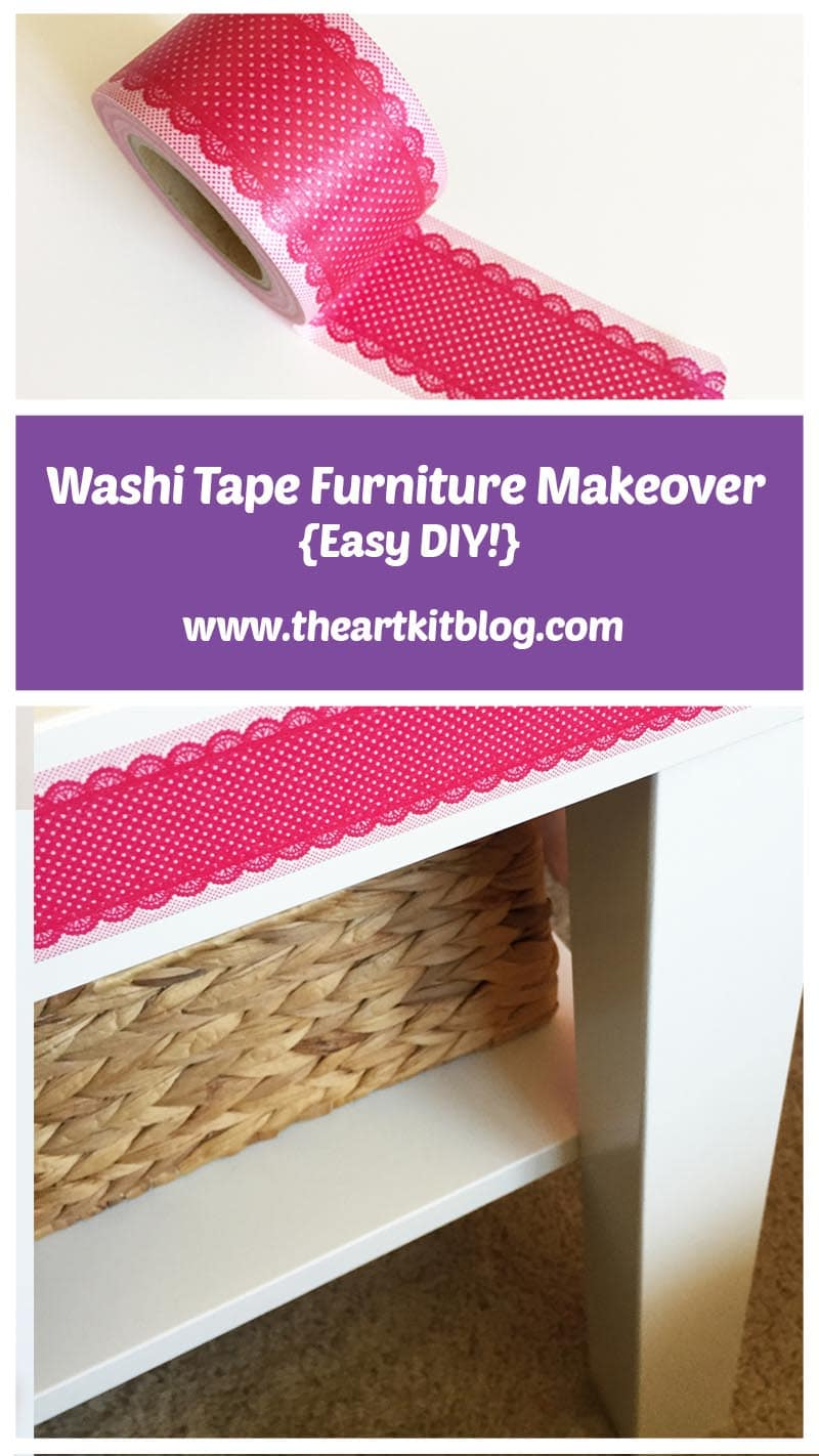 Pin for later, visit the blog today! Washi tape furniture makeover