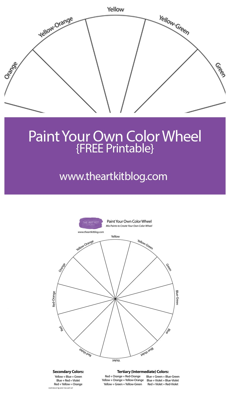 graphic regarding Color Wheel Printable called Cost-free Printable Paint Your Particular Coloration Wheel - The Artwork Package