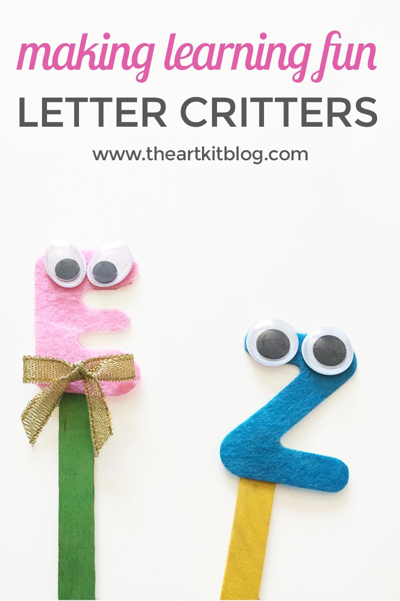 Alphabet Critters {Craft + Fun Educational Tool}