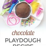 Chocolate Playdough Recipe {With Real Cocoa Powder}