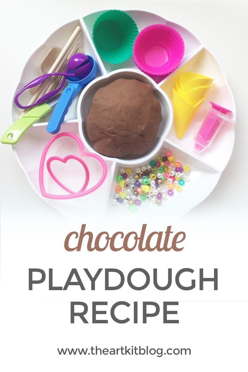 Easy Chocolate Playdough Recipe with Real Cocoa Powder by The Art Kit