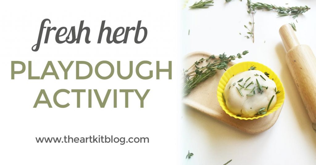 How to make fresh herb playdough recipe from @theartkit www.theartkitblog.com