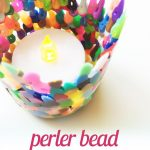 Perler Bead Candle Holders {Easy DIY}