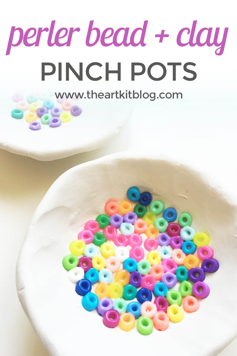 Perler Beads + Oven Baked Clay Pinch Pots {Easy DIY!}