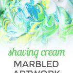 Shaving Cream + Paint Marbled Artwork