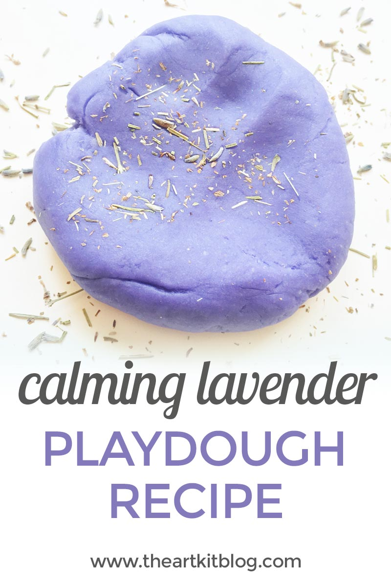 Calming Lavender Playdough Recipe {With Lavender Seed Mix-Ins}