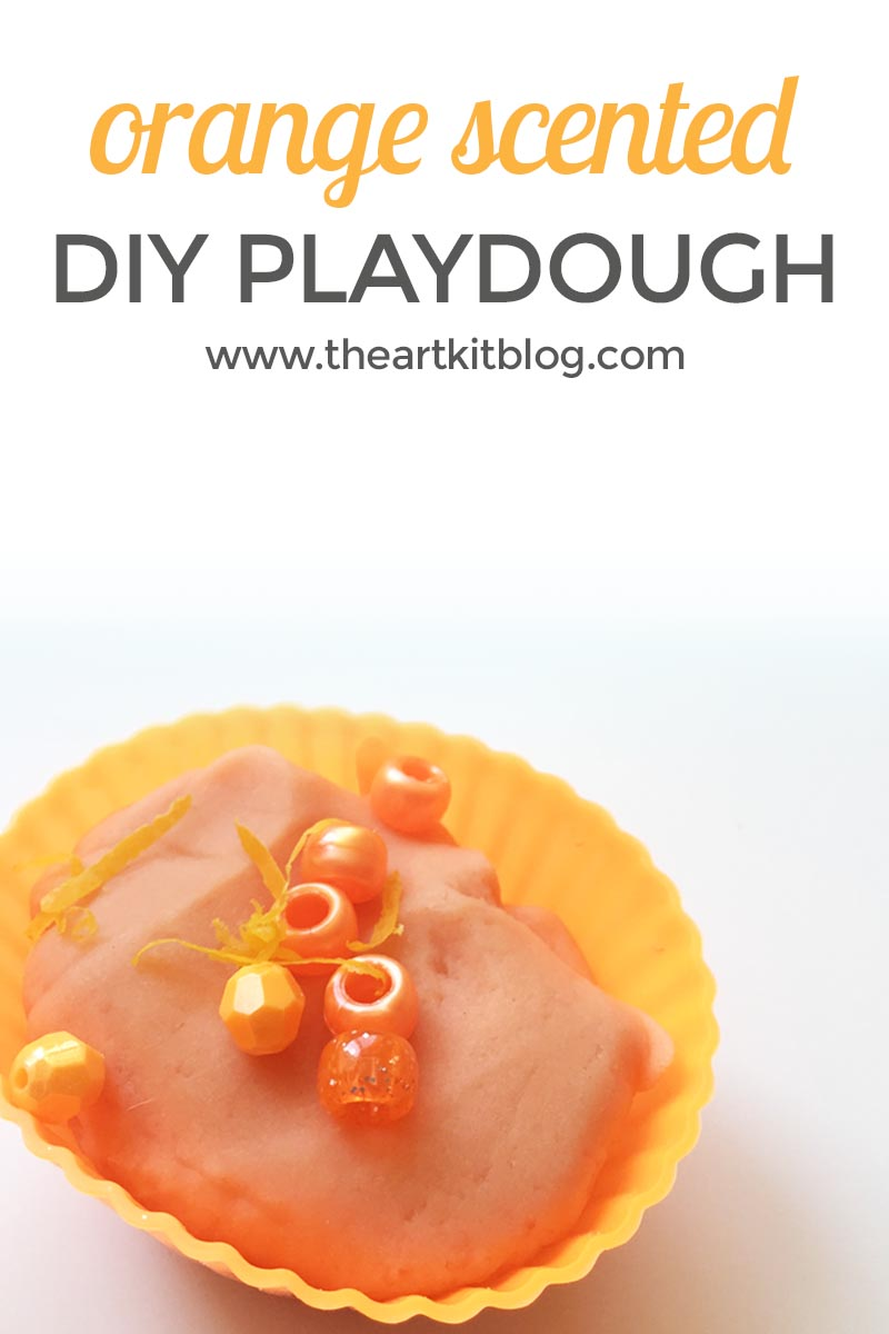 Orange Scented Playdough {With Orange Zest Mix-Ins}
