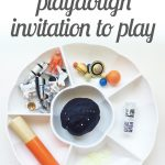 Space Galaxy Playdough {Invitation to Play}
