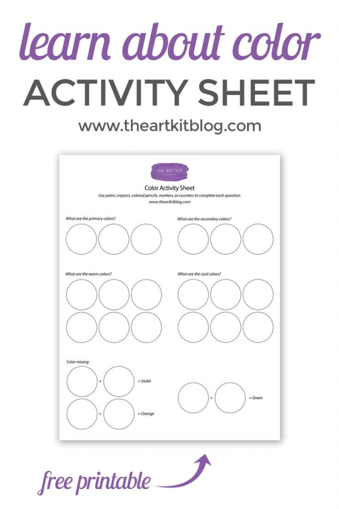 Learn about Color with The Art Kit's Free Activity Sheet Printables from www.theartkitblog.com @theartkit